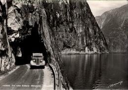 ! S/w Ansichtskarte Eidfjord Mabedalen Haugastol, Automobil, Norwegen, Norway, Norvege, Norge - Norvège
