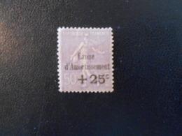 FRANCE  YT276 CAISSE D'AMORTISSEMENT +25c S/50c Violet* - Caisse D'Amortissement
