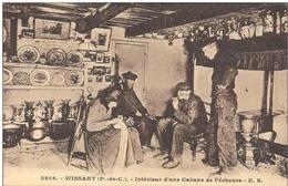 Cpa 62 Wissant , Intérieur D'une Cabane De Pêcheurs , Voyagée 1931 - Wissant