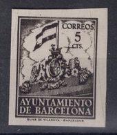España 1940. Barcelona. Ed 28s. Variedad. Serie 8ª Letra X Sin Numero. MNG. *. - Barcelona