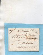 """P. 61 P. BAPAUME"",P.P.P.P.,L.A.C.  De GREVILLERS Pour MONTEREAU,1821. - Marcofilie (Brieven)"