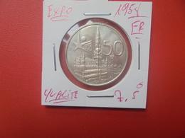 """Baudouin 1er. 50 Francs """"EXPO 1958"""" FR. ARGENT. SUPERBE+(A.4) - 1951-1993: Baldovino I"""