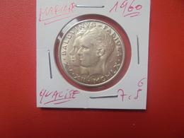 """Baudouin 1er. 50 Francs """"MARIAGE 1960"""". ARGENT. SUPERBE+(A.4) - 1951-1993: Baldovino I"""