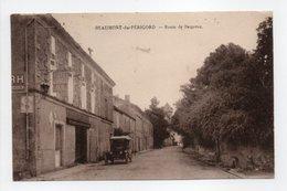 - CPA BEAUMONT-DU-PÉRIGORD (24) - Route De Bergerac 1929 (HOTEL DU COMMERCE) - Photo COMBIER - - Francia