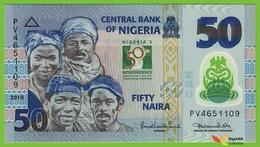 Voyo NIGERIA 50 Naira 2010 P37 B237a PV UNC Polimer Commemorative - Nigeria