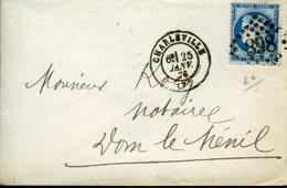 CHARLEVILLE 25 JANV 76 Type 17 + GC 898 Sur N°60 Type 3 25c Cérès Verso Bureau De Passe 2351 - 1849-1876: Période Classique