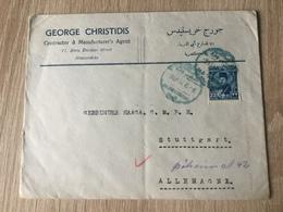K8 Ägypten 1947 Brief Von Alexandria Nach Stuttgart - Lettres & Documents