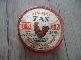 Boite Pub Originale Réglisse Zan Uzès Marseille Pleine Coq - Autres