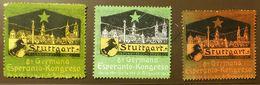 Werbemarke Cinderella Poster Stamp  Esperanto Stuttgart 1913  #1777 - Vignetten (Erinnophilie)