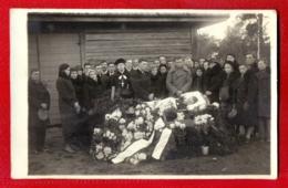 Antique Post Mortem Man In Casket Vintage Funeral Photo Pc. 67 - Cartes Postales