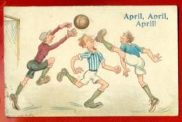 LATVIA LETTLAND Football ''April,April,April!'' VINTAGE POSTCARD USED 2019 - Other