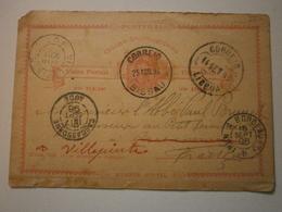 1896. Rare Entier Postal Circulé. Bissau (Guinée) Vers Carcassonne (11), Redirigé Carcassonne Vers Villepinte (93) ASp9 - Postal Stationery