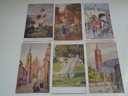 Beau Lot 60 Cartes Postales Fantaisie Peintures  Peinture     Mooi Lot 60 Postkaarten Fantasie  Schilderijen  Schilderij - 5 - 99 Postkaarten