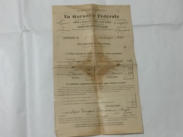 POLIZZA ASSICURATIVA BESTIAME SONVICO 1907 CONTRE LA GARANTIE FèDèRALE - Shareholdings