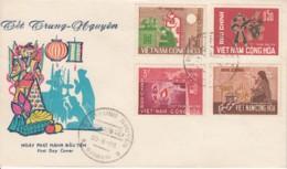 Vietnam YT 286 / 290 Fetedes Ames Errantes 30.8.66 Saigon Priere,spirualité, Croyance,bougie - Vietnam