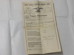 POLIZZA SOCIETà SVIZZERA D'ASSICURAZIONE MOBILIARE A BERNA SONVICO 1916 FR.5500 - Shareholdings