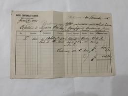 RICEVUTA BANCA CANTONALE TICINESE BELLINZONA 1915. - Shareholdings