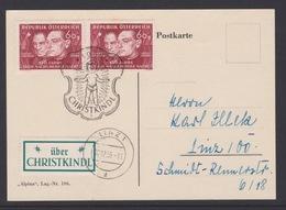 Christkindl Weihnachten Sonderstempel Postkarte LZ 8.12.1956 - FDC