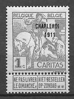 OBP100, Postfris** - 1910-1911 Caritas