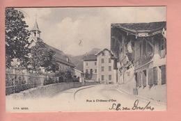 OUDE POSTKAART  ZWITSERLAND - SCHWEIZ - SUISSE -    RUE A CHATEAU-D'OEX  1906 - VD Vaud
