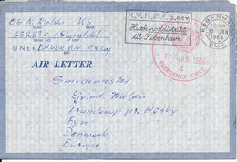 Denmark Air Letter United Nations Emergency Force 11-1-1966 UNEF DANOR BN HG Coy Gaza/Egypt - Danemark