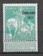 OBP105, Postfris** - 1910-1911 Caritas