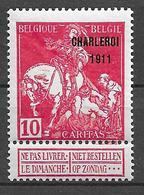 OBP107, Postfris** - 1910-1911 Caritas