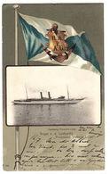 """HAMBURG - AMERIKA LINIE - Gruss V. D. Lustyacht  """" Prinzessin Victoria Luise"""" - Steamers"""