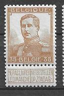 OBP113, Postfris** - 1912 Pellens