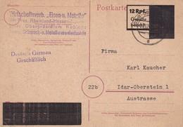 ALLEMAGNE 1946  ZONE FRANCAISE ENTIER POSTAL  /GANZSACHE/POSTAL STATIONERY CARTE DE IDAR-OBERSTEIN - Zona Francesa