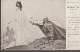 C. P. A - LA LETTRE DU PAPE BENOIT XV A GUILLAUME - GUERRE EUROPÉENNE DE 1914 EDITION PATRIOTIQUE - ROME 25 SEPTEMBRE 19 - Guerra 1914-18