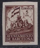 España 1940. Barcelona. Ed 27s. Variedad. Serie 8ª Letra R. MNG. *. - Barcelona