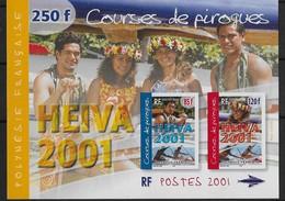 2001  Polynésie Française N°  BF 27  Nf** MNH . Heiva 2001 . Course De Pirogues. - Blokken & Velletjes