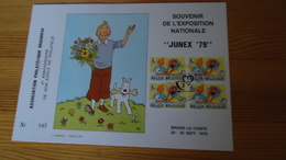 """Souvenir De L'Exposition Nationale """"JUNEX '79 - Braine-le Comte  (   Kuifje  - Tintin ) - Souvenir Cards"""