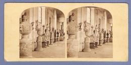 PHOTO STÉRÉO GALERIE STATUE VASE PORCELAINE FAIENCE POTERIE - ÉGYPTE EGYPT (?) - Stereoscopio