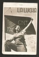 Rare Carnet Complet De 10 Cartes - La Lucha En Barcelona - Guerre D ' Espagne - Barricade Armes Soignant Miliciens - Barcelona