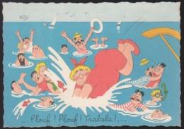 CPSM - (Illustrateurs) Albert DUBOUT - Plouf ! Plouf ! Tralala ! (écrite) - Dubout