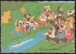 CPSM - (Illustrateurs) Albert DUBOUT - Té ! Un Poisson ! (écrite) - Dubout