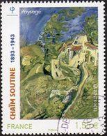 Oblitération Cachet à Date Sur Timbre De France N° 4716 - Tableau, Peinture De Chaïm SOUTINE - Paysage - France