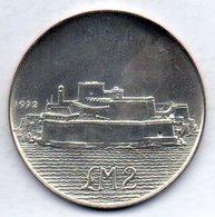 MALTA, 2 Lire, Silver, Year 1972, KM #14 - Malta