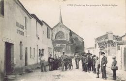85 - Coex (Vendée) - Rue Principale Et Abside De L'Eglise - France