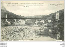 43 LE PONT LIGNON. Usine Papier Photographique Lumière 1917 - Autres Communes