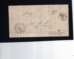 CG1 - Leggiuno - Doppio Cerchio Sardo Ital. + Bollo Sub Economo De Benefici Vacanti - Lett. Per Arcumeggia 20/8/1862 - 1. ...-1850 Prephilately