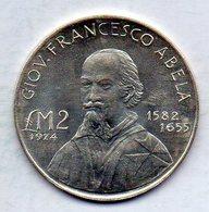 MALTA, 2 Lire, Silver, Year 1974, KM #24 - Malta