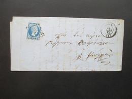 Griechenland 1863 Hermeskopf Nr. 20 ?? EF Brief Mit Inhalt! Tripolis - 1861-86 Large Hermes Heads