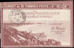 FRANCE Carnets ** 257-C4, Série Le Havre: 50c. Jeanne D'Arc, (cachet D'expo Sur Couverture), Falière-Bénédictins-Flroent - Carnets