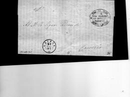 CG1 - Laveno - Doppio Cerchio Sardo Ital. + Bollo Sub Econ. De Benefici Vacanti - Lett. Per Comerio 21/12/1861 - Italia