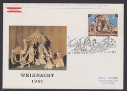 Christkindl Weihnachten Sonderstempel 6.1.1982 - FDC