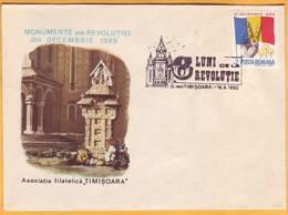 1990. Romania. Romanian Revolution. Special Envelope. Special Cancellations.Timisoara - Cartas