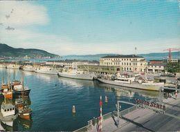 Norway - Trondheim - Harbour - Frachter - Railway Station - Nice Stamp - Norvegia